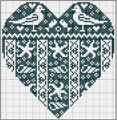 mer - sea - coeur - point de croix - cross stitch - Blog : http://broderiemimie44.canalblog.com/