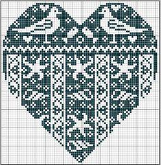 mer - sea - coeur - point de croix - cross stitch - Blog : http://broderiemimie44.canalblog.com/