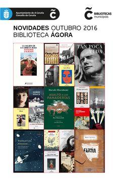 Últimas novidades da sala de adultos da Biblioteca Municipal Ágora. Dispoñibles para levar en préstamo dende xa!
