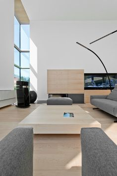 Water Theme Flows Through Modern Home in Lithuania - http://freshome.com/water-themed-modern-home-in-lithuania/