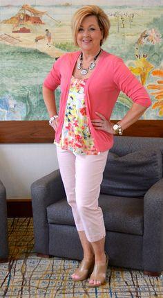 50 is not old 50 is not old, go pink, fashion over love fashion, spring 60 Fashion, Over 50 Womens Fashion, Fashion Over 40, Plus Size Fashion, Fashion Outfits, Fashion Tips, Fashion Trends, Fashion Videos, Pink Fashion