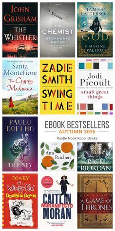 Autumn 2016 - new novels by Jodi Picoult, Ann Patchett, John Grisham, Zadie Smith, and Santa Montefiore