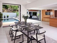 modern black white dining chairs