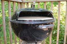 Modified Kettle Wood-Fired Pizza Oven, Part 2—What I have here is essentially a brick oven that pops on top of a standard 22.5″ Weber kettle grill. The components add an extra eleven pounds, so it's about the weight of a large pork shoulder or a small brisket. I can hang my oven on the wall in my basement and swap it out for my standard lid whenever I want to make pizza.
