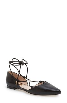 Louise et Cie 'Abbatha' Pointy Toe d'Orsay Ghillie Flat (Women) available at #Nordstrom