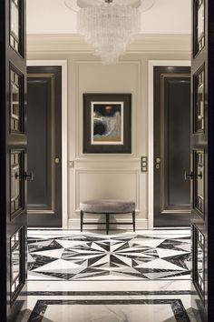 Get inspired by the best luxury interior design projects. Find out how to elevate your home decor on Entrance Design, Entrance Doors, Main Entrance, Luxury Interior Design, Luxury Home Decor, Top Interior Designers, Modern Mansion Interior, Modern Classic Interior, Architecture Restaurant