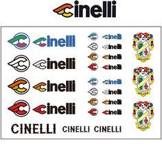 Cinelli Crest WHITE Vintage Cycle Bike Decals Stickers