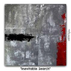 Original Urban Abstract Texture Painting by by ABSTRACTSbySabina, $500.00