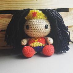 CROCHET - BIG HEAD DOLL - BABYDOLL YO-YO - Wonder Woman