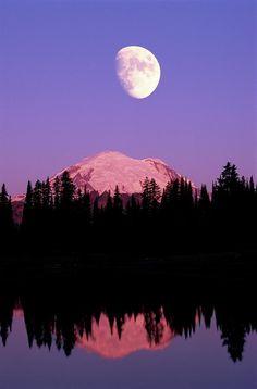 Night sky over Mt. Rainier