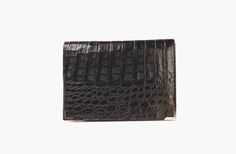 Le Pe Aristo Noir Clutch Made With Real Crocodile Leather