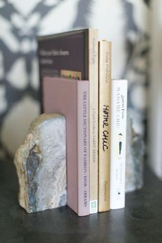 Love this crystal stone rock bookend.
