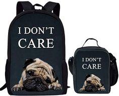 Farbe: Mops Set 8 Schultasche: Fächer: 2 x seitliche Netztasche, 1 x Reißverschlusstasche. Langlebiger, leichter Rucksack, glatter Doppelreißverschluss. Luftpolster-Gurt-Tragesystem, dicker atmungsaktiver Riemen, bequem zu tragen. Modischer Rucksack, geeignet für Kinder, für Schule, Reisen, etc. Lunchtasche: Diese Lunchtasche kann als Tragetasche oder Kuriertasche verwendet werden. Hinweis: Die kleine Lunchtasche ist ideal für Vorschüler oder Kindergarten (empfohlenes Alter: 3–10 Jahre) oder… Alter, Fashion Backpack, Kindergarten, Backpacks, 10 Years, Tote Bag, Pug, School, Summer