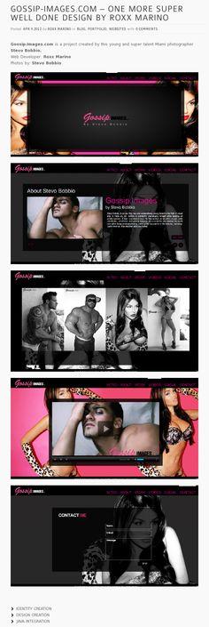 Web Design  Client: gossip-images.com    by: roxxstudiodesign.com