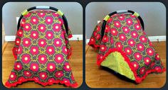 I made this car seat cover for my little baby girl!
