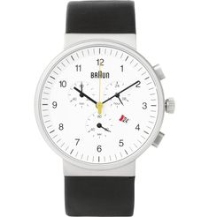 UNDERSTATED MALE ELEGANCE: Braun BN0035 Stainless Steel Chronograph Watch | MR PORTER    @MRPORTERLIVE  #follow #twitter