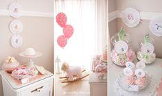Um Chá de Bébé para uma princesa no seu futuro quarto  Baby Shower party for a girl in her future bedroom