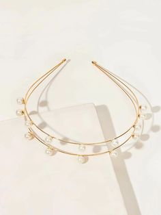 Pearl Decor Layered Hair Hoop | SHEIN South Africa Hair Hoops, Bangles, Bracelets, Layered Hair, Free Gifts, South Africa, Headbands, Layers, Hair Accessories