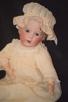 Antique Doll French SFBJ Baby Big Bisque Head Dressed
