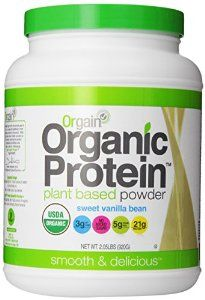 organic protein powder - I get this from Costco and has been a less expensive and comparable alternative to Shakeology.