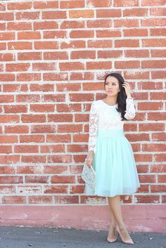 Mint Tulle and Lace by Stylish Petite, via Flickr