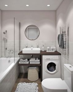Looking for ideas to transform your small bathroom? Maximize your bathroom with these tips and ideas for your small bathroom spaces. Bathrooms are usually small spaces that are called upon to do many things. Bathroom With Tub Bathroom Design Small, Bathroom Layout, Bathroom Designs, Small Bathrooms, Simple Bathroom, Small Elegant Bathroom, Small Bathroom Ideas, Small Bathroom Interior, Small Space Bathroom