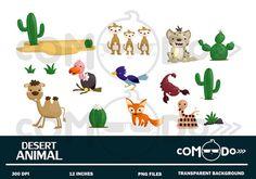 Desert Habitat and Their Names #felt #set is perfect for ...