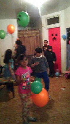 Mine craft ballons ideas (my son Oby Birthday
