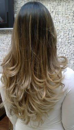 Color and cut, balayage, layers Ombre Hair, Balayage Hair, Long Hair Cuts, Long Hair Styles, Blonde Layered Hair, Cabello Hair, Long Layered Haircuts, Layered Hairstyles, Hair Color And Cut