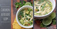 This chicken avocado soup recipe is so very yummy.  It's also light, low calorie, and the huge chunks of avocado just melt in your mouth as you eat it –  oh Y.U.M.
