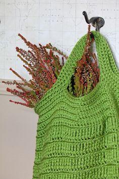 Vibrant Green Shopping Bag by pepperjackhome on Etsy, $32.00