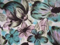 This fabric is much more vibrant in person. The colors are grey, black, turquoise and light lavender violet. Looks like a watercolor. Camper Interior Design, Mid Century Decor, Guest Bedrooms, Afternoon Tea, Purple And Black, Fabric Patterns, Black Cotton, Bedroom Ideas, Lavender