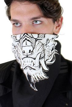 BLACK AND WHITE Bandannas are back in stock at Five and Diamond! http://fiveanddiamond.com/search?q=miss+monster