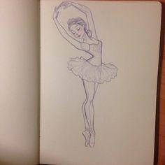 Drawn Ballerina easy 15 - 640 X 640   Dumielauxepices.net