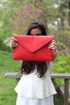 Nice red clutch purse. Look closely! - handbags, casual, vera bradley, handmade, brahmin, dior purse *ad