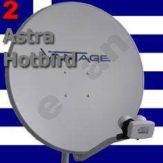 Griechische Satelliten Sender :: Ausrichtung einer SAT-Anlage- Komplettanlage Astra und Hotbird