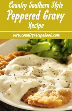 Steak Recipes, Chicken Recipes, Game Recipes, Recipe Chicken, Recetas Salvadorenas, Sauce Au Poivre, Chicken Fried Steak, Roasted Chicken, Sausage Gravy