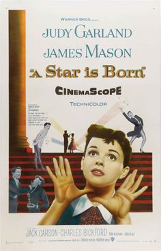 """""""A Star is Born"""" (1954). COUNTRY: United States. DIRECTOR: George Cukor. COMPOSER: Harold Arlen (Songs: Gershwin & Miscellaneous). CAST: Judy Garland, James Mason, Jack Carson, Charles Bickford, Tommy Noonan, Lucy Marlow, Amanda Blake, Irving Bacon, Hazel Shermet"""