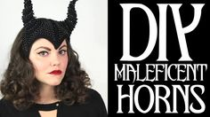 tutorial for a badass DIY Maleficent horned headwear. great tutorial for making fascinator kind of headwear overall