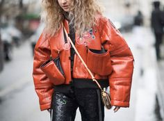 Best Street Style From Paris Fashion Week Fall 2017 Tip: Mess around with different clothing structures.