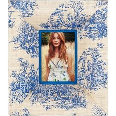 Toile Picture Frame (2,515 INR) ❤ liked on Polyvore featuring home, home decor, frames, toile home decor, blue home decor, handmade picture frames, fabric frames and fabric home decor