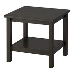 IKEA - HEMNES, Side table, black-brown, , Solid wood has a natural feel.Separate shelf for magazines, etc. helps you keep your things organized and the table top clear.