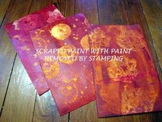 Art Journals - Background painting - great techniques