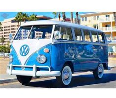 1966 Volkswagen Bus For Sale is a Blue, White 1966 Volkswagen Bus Classic Car in Marina Del Rey CA