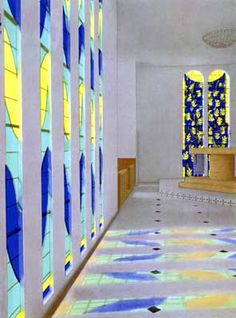 Chapelle du Rosaire in Vence, France, designed by Henri Matisse (French, Henri Matisse, Chagall, Villefranche Sur Mer, Gaudi, French Artists, Religious Art, Stained Glass Windows, Famous Artists, Van Gogh