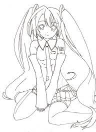 manga_coloring_page teens and adults coloring pages | manga ... - Hatsune Miku Chibi Coloring Pages