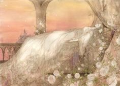 For all the little princesses who would like sleeping beauty on their wall -Ibara by Koto (from Dream Fantasy, High Fantasy, Fantasy Art, Briar Rose, Haunted Dollhouse, Legends And Myths, Faeries, Amazing Art, Illustrators