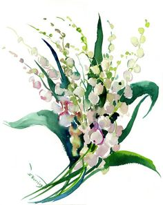 Buy Lilies of The Valley, Watercolor by Suren Nersisyan on Artfinder. Discover thousands of other original paintings, prints, sculptures and photography from independent artists. Watercolor Paper, Watercolor Flowers, Original Artwork, Original Paintings, Lily Of The Valley Flowers, Paper Tags, Lovers Art, Buy Art, Photo Art