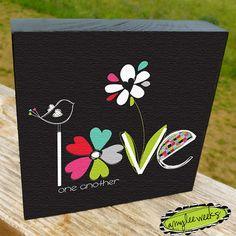 Christian Art Scripture Art Groovy Goodness Love by amyleeweeks, $20.00