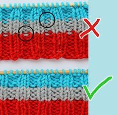 Quick Tip - Straight stripes to rib Straight stripes in rib. Crochet Chart, Crochet Stitches, Knit Crochet, Simply Knitting, Baby Knitting, Stitch Patterns, Crochet Patterns, Fair Isle Knitting Patterns, Knit Mittens